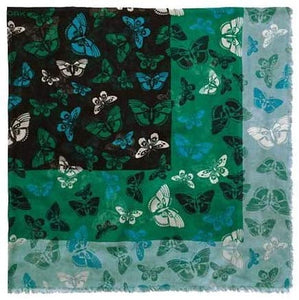 COACH Women's Butterfly Woven Oversized Square Scarf