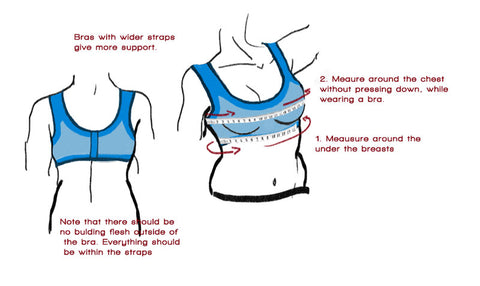 How to measure your body for the right size sports bra