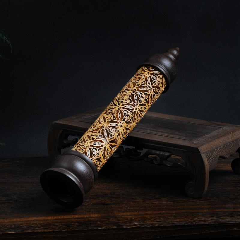 Handmade Creative Hollow Walnut  Incense Burner - Evie.Shop