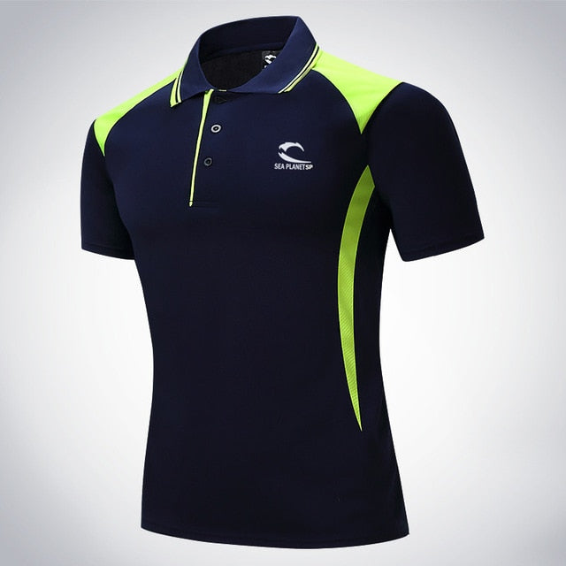 Men Tennis Top- Perfect for Outdoor sports workout badminton Quick-dry t shirt Short Sleeve - Evie.Shop