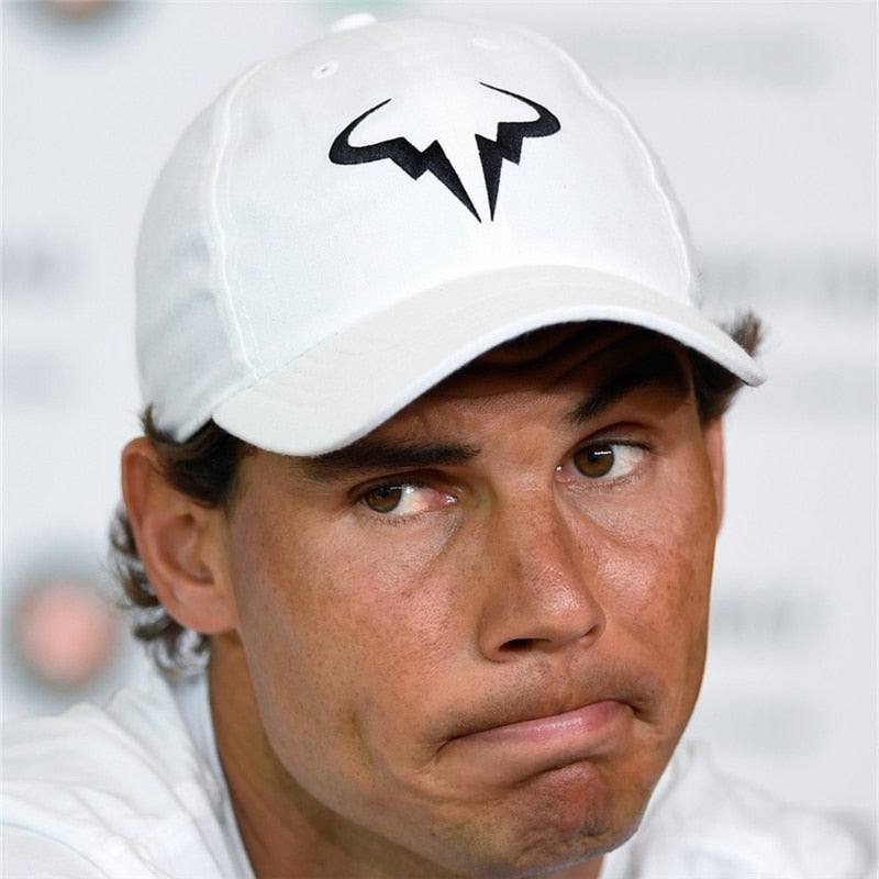 Rafael Nadal  Cap New 100% Cotton Tennis  Men Women Snapback Caps bone Embroidery Nadal Hats - Evie.Shop