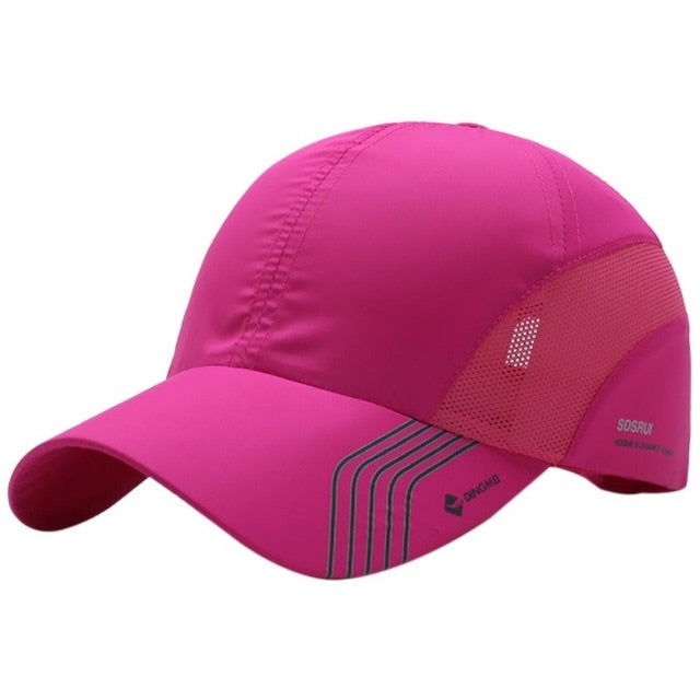 Summer Men's Quick-Drying Mesh Hat Outdoor Sports Solid Color Tennis Cap - Evie.Shop