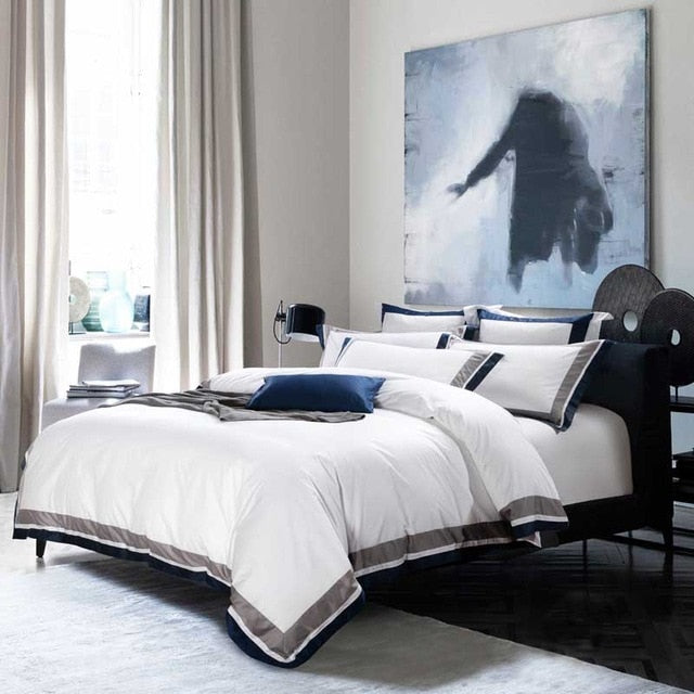 5-star Hotel White Luxury 100% Egyptian Cotton Bedding Sets - Evie.Shop