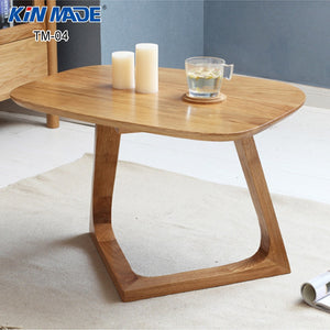 Oval Furniture Red Oak Coffee Table - Evie.Shop