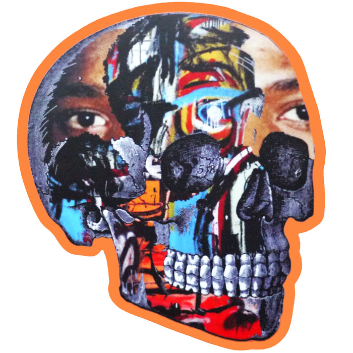 Basquiat Skull Sticker
