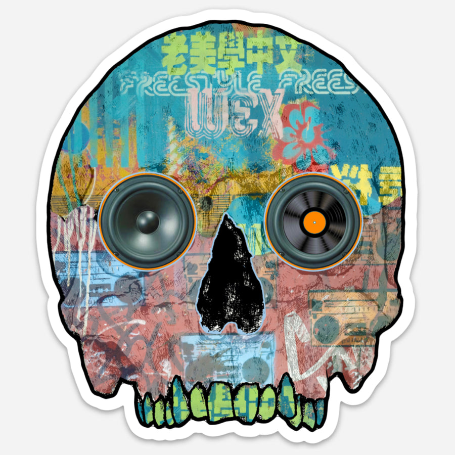 Freestyle Skull Sticker