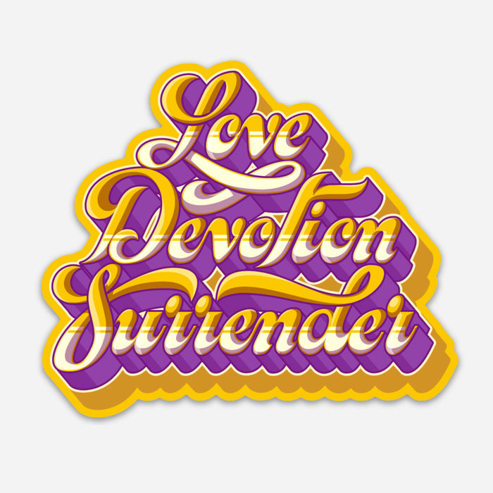 Love Devotion Surrender Sticker (Yellow)