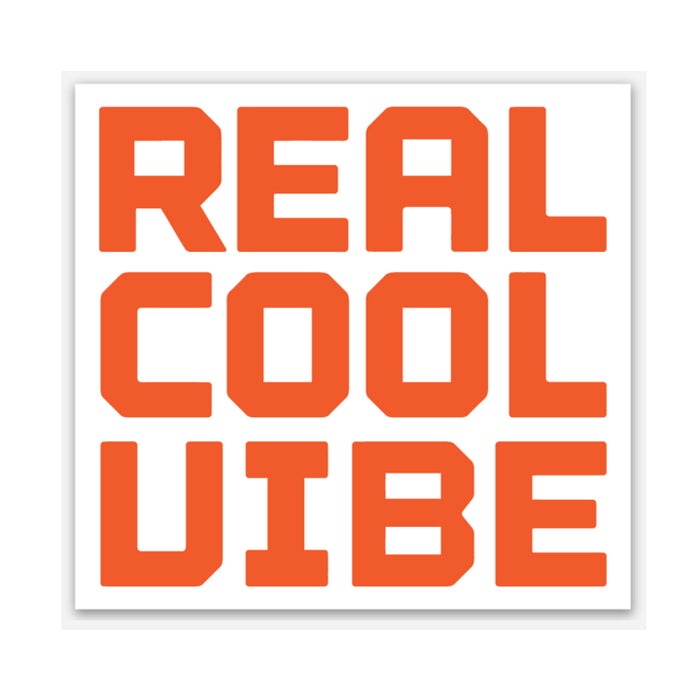 Real Cool Vibe - Logo Sticker