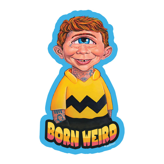 Alfred E. Neuman (Born Weird) Sticker