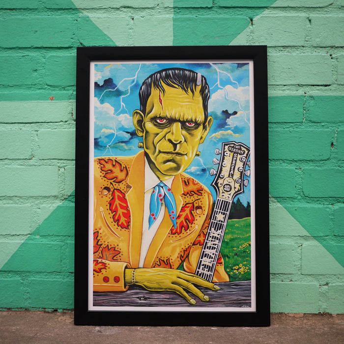 Honky-Tonk-Monster Art Print - Frankenstein's Monster (Built To Bop)