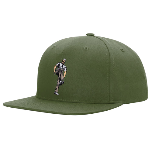 Broken 3 Wood Pinch Front Structured Snapback