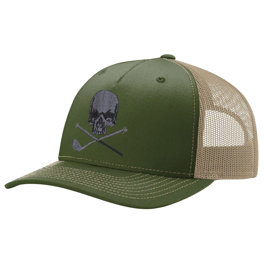 Skull & Broken 3 Wood Five Panel Trucker