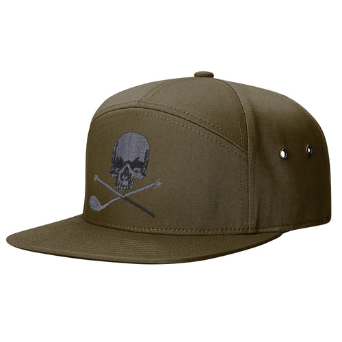 Skull & Broken 3 Wood 7 Panel Twill Strapback