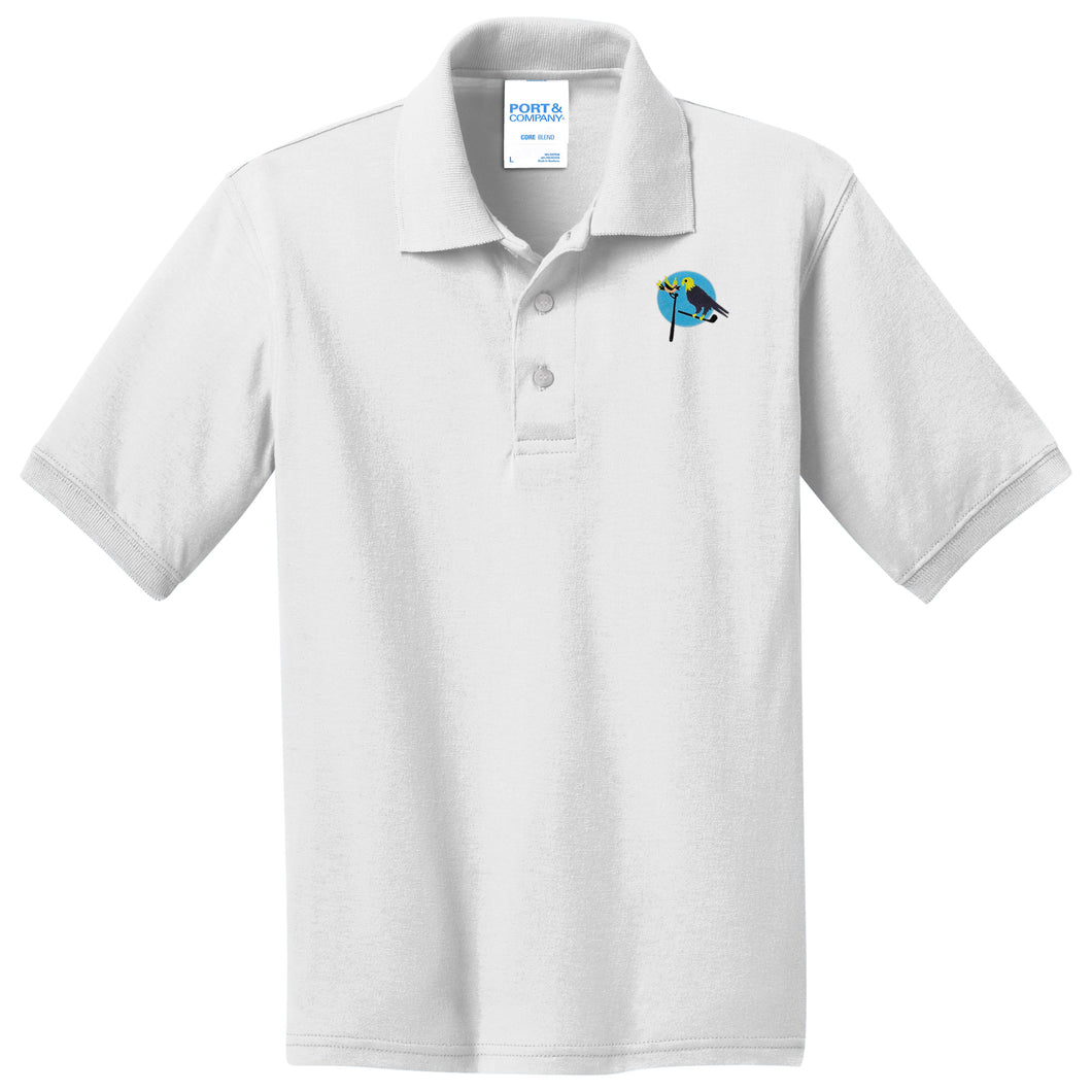 Birdies & Eagles Jersey Knit Youth Polo