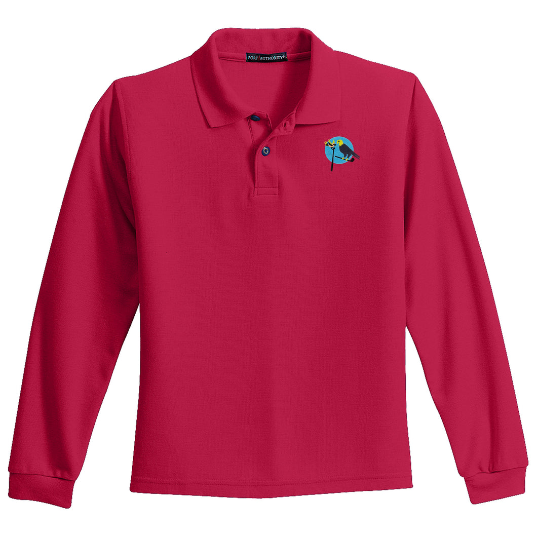 Birdies & Eagles Long Sleeve Youth Polo