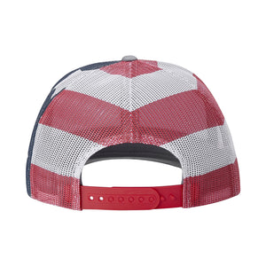 Broken 3 Wood Red White and Blue Trucker Cap
