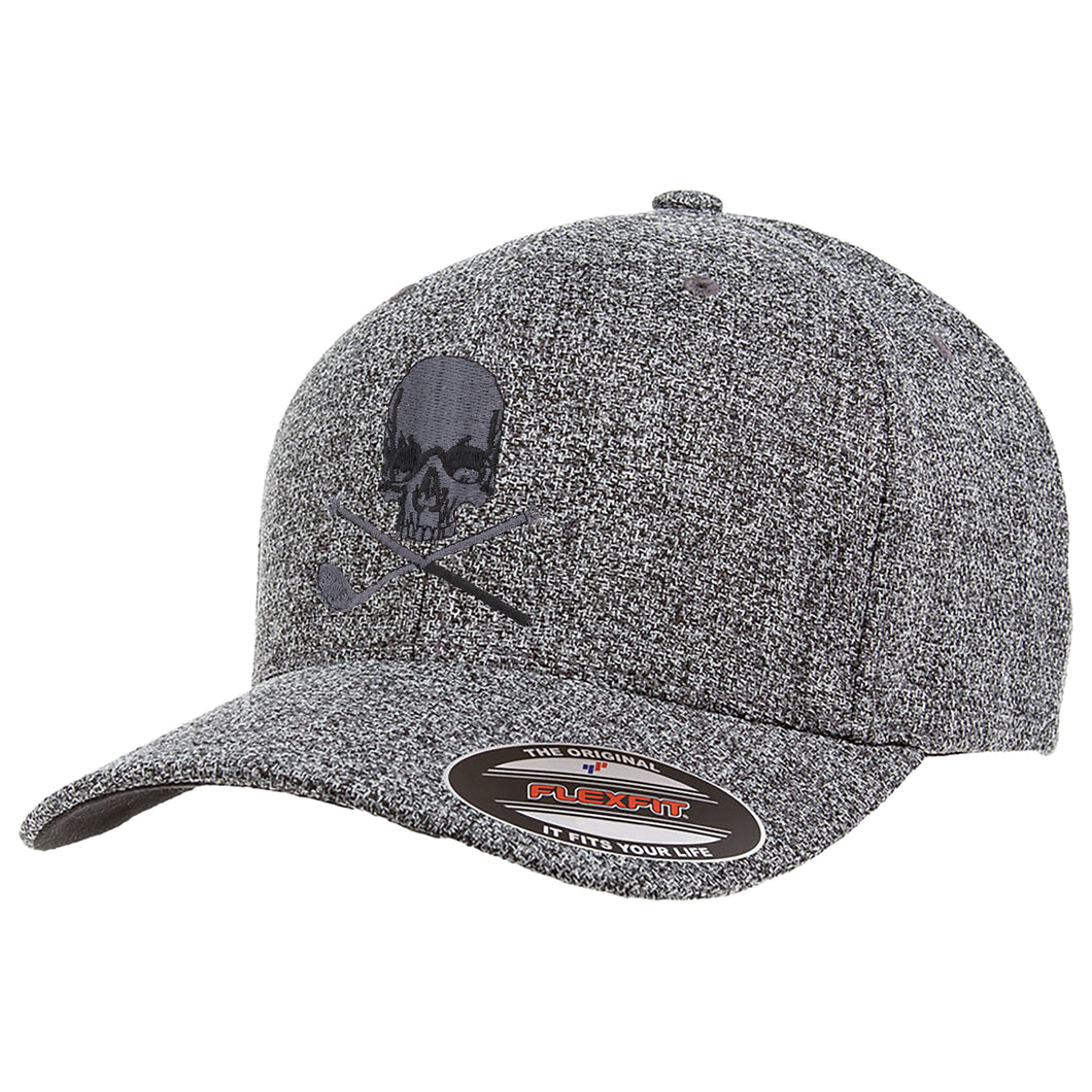 Skull & Broken 3 Wood Flex Fit Melange Cap