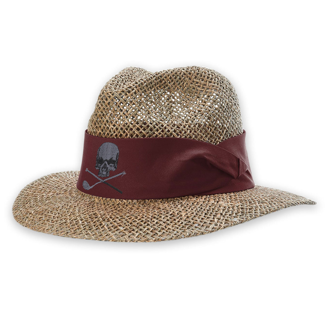 Skull & Broken 3 Wood Straw Safari Hat