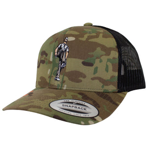 Broken 3 Wood Multicam Retro Trucker Cap