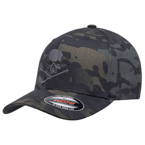 Skull & Broken 3 Wood Flex Fit Multicam Hat