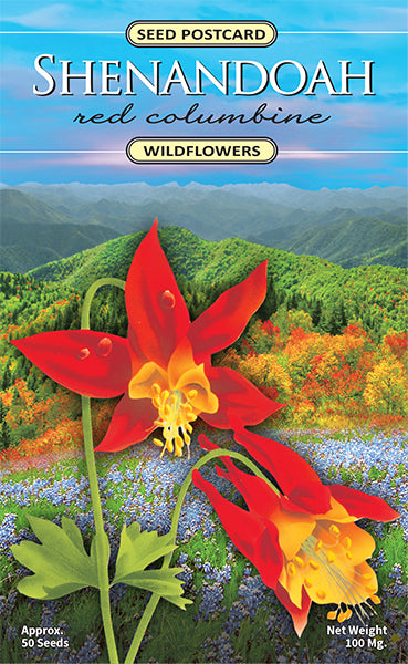 Shenandoah Red Columbine Seed Packet