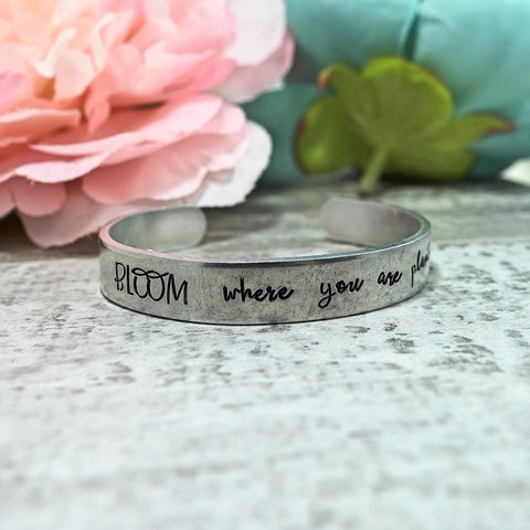 BLOOM Where You Are Planted Cuff Bracelet
