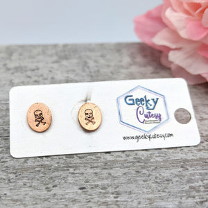 Jolly Roger Stud Earrings