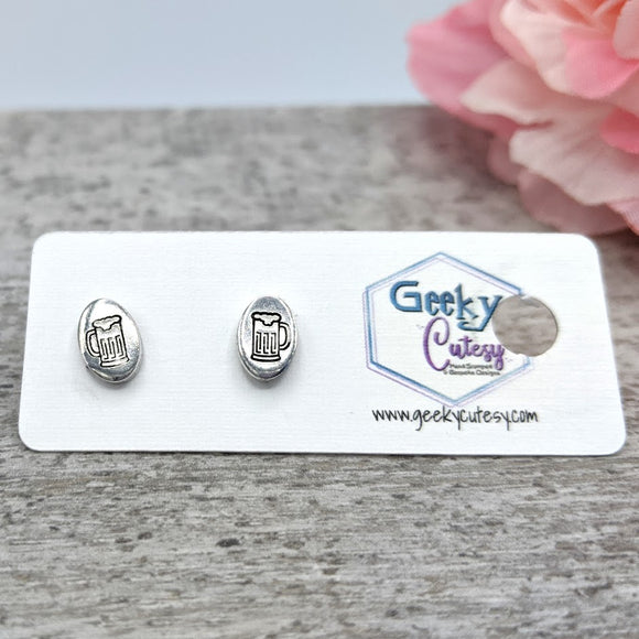Beer Mug Stud Earrings