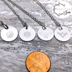 Choose Your Superhero Necklace