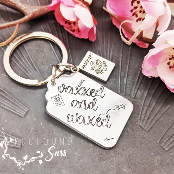 Vaxxed and Waxed Keychain