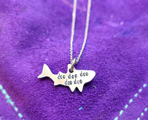 "Shark ""Doo doo doo doo doo"" Pendant Necklace"