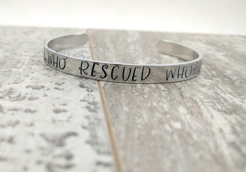 Who Rescued Who? Bracelet