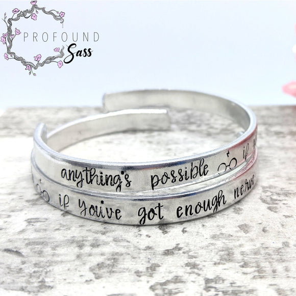 Anything's Possible If You've Got Enough Nerve HP Cuff Bracelet