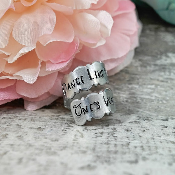 Dance Like No One's Watching Wrapped Ring