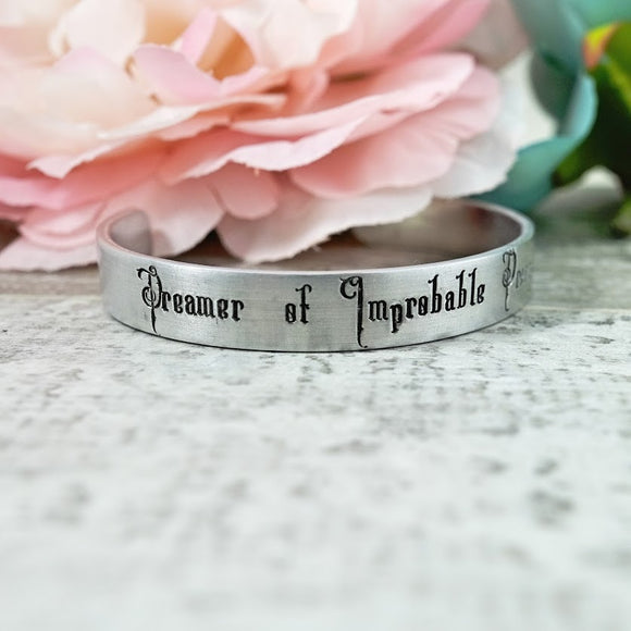 Dreamer of Improbable Dreams Cuff Bracelet