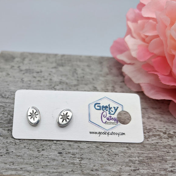 Compass Rose Stud Earrings