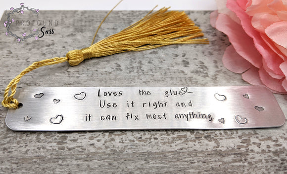 Love's the Glue Bookmark