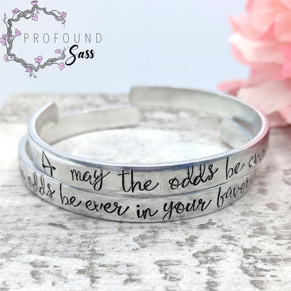 May the Odds be Ever in Your Favor Cuff Bracelet