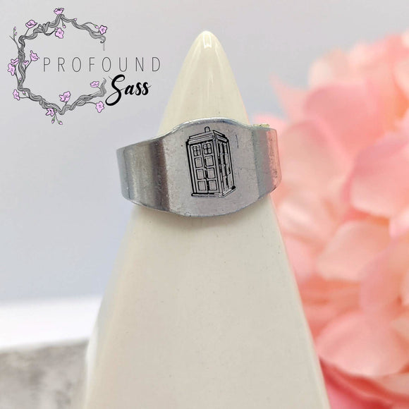 Doctor Who Tardis Adjustable Ring