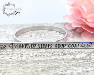 Whatever Floats Your Goat Cuff Bracelet