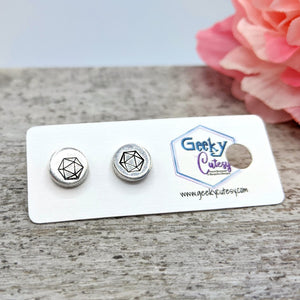 D20 (Icosahedron) Stud Earrings  CLOSEOUT