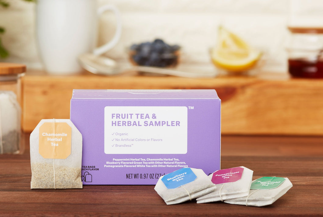 Organic Fruit Tea & Herbal Sampler Variety Pack