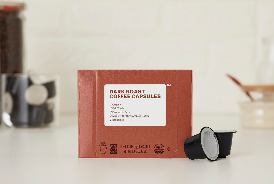 Organic Fair Trade Dark Roast Espresso Capsules