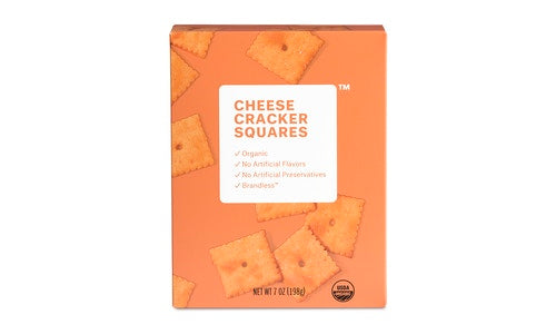 Organic Cheese Square Crackers