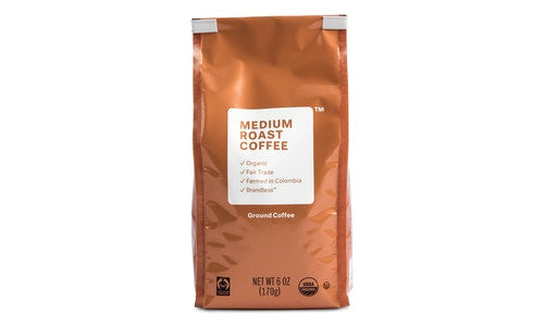 Organic Fair Trade Medium Roast Ground Coffee