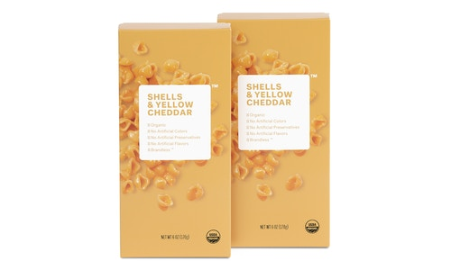 2 Pack Organic Shells & Yellow Cheddar