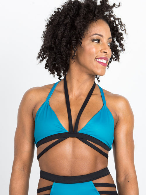 Unravel Me Bra in Teal