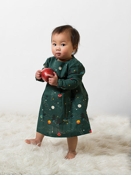 Northern Lights Smock Dress by Little Green Radicals