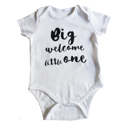 Welcome Baby Vest by Mimi & Will