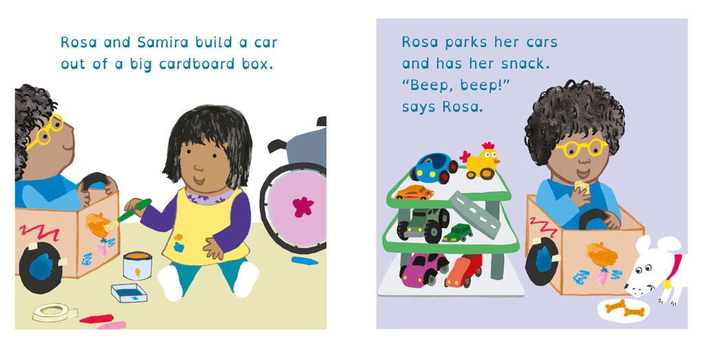 Rosa Loves Cars Board Book